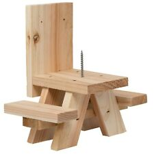 Squirrel Picnic Table- Picnic Table Feeder for Squirrels with Corn Holder