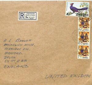 ZAMBIA REGISTERED *Chachacha* R Label GB Devon 1982 {Samwells-Covers} RR119