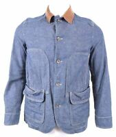 MARLBORO CLASSICS Mens Harrington Denim Jacket EU 50 Large Navy Blue MM11