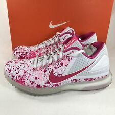 d570a1dce6bc Nike Zoom Trout 3 Turf Baseball Shoes Mothers Day Pink White 844628-167 SZ