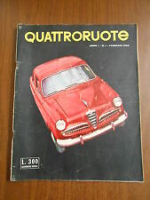 QUATTRORUOTE n.1 - FEBBRAIO 1956 - ORIGINALE