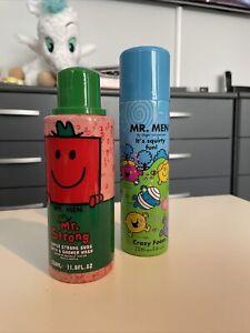 Mr Men  Empty Packaging Toiletries  Memorabilia. Bubble Bath.  Spray Foam