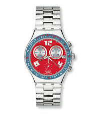 *NEW* SWATCH 2007 Irony Chrono 'ROSSO FURORE' YCS494G Red Dial Chronograph Watch