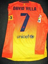 Authentic David Villa Barcelona Jersey Match Worn Camiseta 2012 - 2013 Shirt