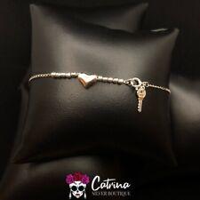 Heart Ankle Bracelet (Anklet) 925 Sterling Silver Key &