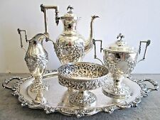S. Kirk & Son Coin Silver Repousse Coffee Set
