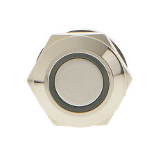 Metal Blue LED Momentary On-Off 12mm Push Button Switch 12V Waterproof