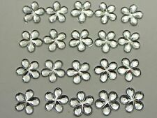 500 Clear Flatback Flower Rhinestone Gem 8mm DIY Embellishments Bow Center