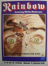 RAINBOW CONCERT TOUR POSTER 1982 STRAIGHT BETWEEN THE EYES RITCHIE BLACKMORE