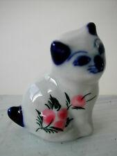 * Miniature statuette en porcelaine - LE CHAT