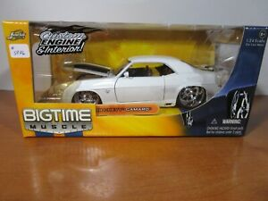 JADA 1/24 BIGTIME MUSCLE WHITE 1969 CHEVY CAMAR SS NEW *DONOR BOX* READ LISTING