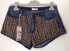 BNWT 100% Auth Miss Sixty, Ladies Sexy Jangle Denim Shorts. 27 RRP £140