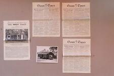 Lot d'archives autour de l'imprimerie mobile du Times, 1951-1953
