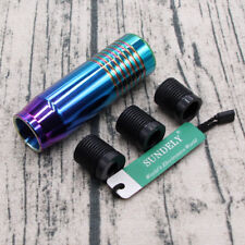 Universal Aluminum Gear Shift Knob for Manual Transmission Car Magic Color 85mm