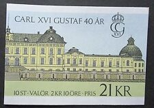 Sweden 1986 40th Birthday of King Carl XVI Gustav Booklet. MNH.