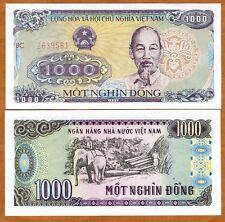 Vietnam, 1000 Dong, 1988 (1989), P-106b, UNC > Ho Chi Minh, Working Elephant