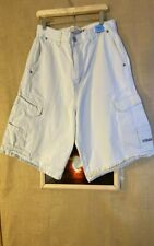 U.S. Polo Assn. men's ivory solid flat front cargo shorts size 33