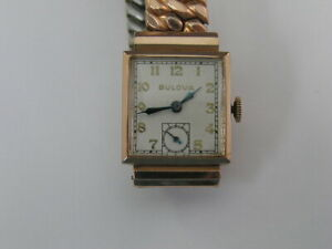 Vintage Bulova Watch Rose Gold Filled w/ Band 1950's