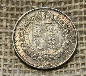 1889 Victoria Silver Halfcrown 09250 EF