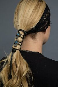 """4"""" Hair Glove Leather Pony Tail Holders / 6 Variations"""