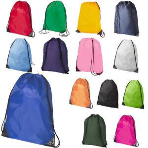 Premium School Drawstring Book Bag Sport Gymsac Swim PE Backpack -  17 Colours