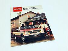 1987 GMC Sierra Wrangler Pickups Full-Size 2-WD 4-WD Brochure