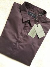 """ALL SAINTS MEN'S OXBLOOD RED """"WESTHAMPTON"""" LOGO L/S SHIRT TOP - SMALL - NEW TAGS"""