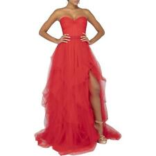 Terani Couture Red Ball Gown Prom Tulle Formal Dress Gown 6 BHFO 9068