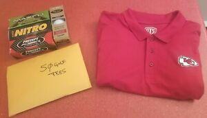 Kansas City Chiefs NFL Classic Red Team Logo Small Golf Polo Shirt Package