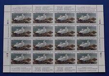 Canada (CN10) 1994 Wildlife Habitat Conservation Stamp Sheet (MNH)