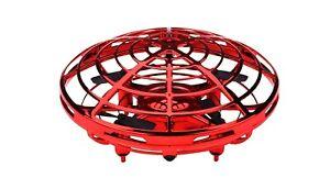 Drohne UFO mit Handsteuerung mit Akku Rot