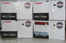 4 Canon NPG-7 Black Toner Genuine For NP6025/6030/NP6330 ,1377a002(aa)