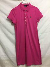 Ralph Lauren Sport Short Sleeve Pink Polo Dress Size M