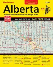 Alberta Back Road Atlas - MapArt 2018 edition- 20019- Canada