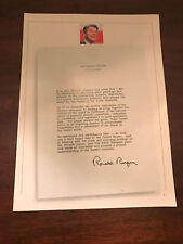 1984 VINTAGE 8X11 PRINT Ad OF RONALD REAGAN LETTER TO OLYMPIC ATHLETES+FANS