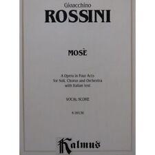 ROSSINI G. Mosè Opéra Chant Piano partition sheet music score