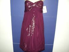 NEW Nicole Miller Diosa Luna Size 8 Small Dress Magenta Strapless MSRP $365