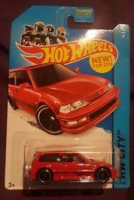 Hot Wheels HW City Red 1990 Honda Civic Hatchback EF Night Burnerz Scale 1:64