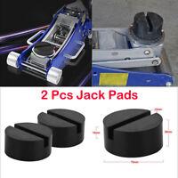 Vehicle Slotted Frame Rail Floor Rubber Jack Disk Pad  Pinch Weld Side JACKPAD