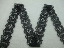 Beautiful stretch lace ribbon quality black 10 yards free shipping