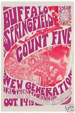 Classic Rock: Buffalo Springfield & Count Five at Redondo Poster 1966