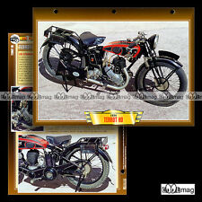 #105.01 Fiche Moto TERROT HD 350 1934-1938 Classic Motorcycle Card