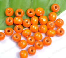 FREE SHIP 50PCS Orange Wood Round Spacer Charms Beads  10MM