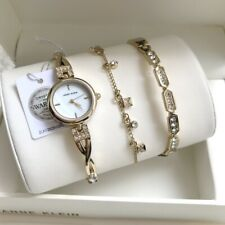 Anne Klein Watch Set * 3082GPST Swarovski Gold Twist Bracelet for Women