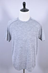 Lululemon Metal Vent SS Shirt Gray Heather Men's Large L