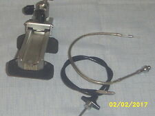 "Vintage lot of  2 Camera Remote Trigger Buttons 10"" & 18""/one adj camera mount"