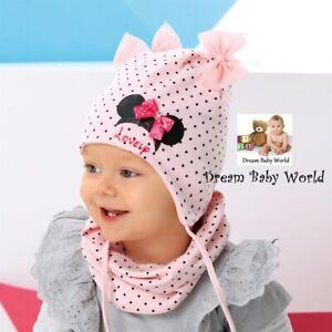Cotton baby girls hat autumn 12-24 months 2-4 Years Tie up KIDS Minnie Mouse
