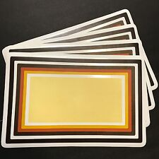 Vintage Placemats Set Of 4 Brown Yellow Orange Mod Rectangle Print Vinyl Foam