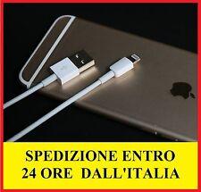 CAVO USB 8 PIN adattatore iPhone 6 6S 7 Plus 5 5S 5C SE IOS 10  1m bianco o nero