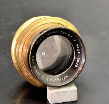 Emil Busch Rapid Aplanat 200mm F7 Antique Brass Lens wet plate 5x7